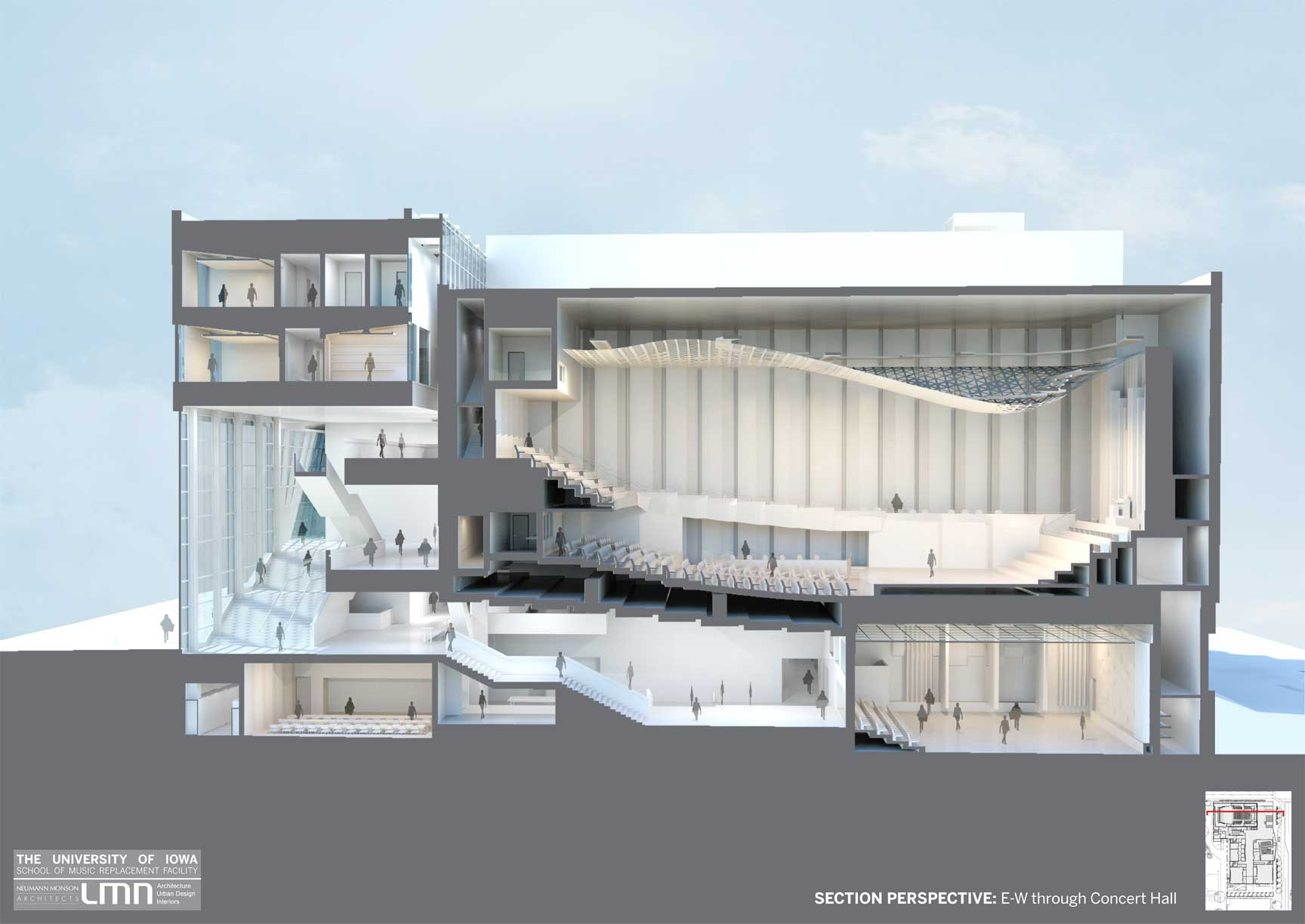 Building renderings school of music college of liberal for Design a building