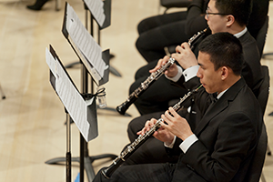 Oboes in an orchestra concert