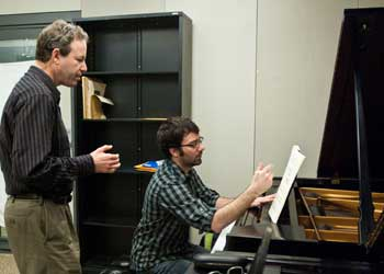 Piano Professor Uriel Tsachor teaches a lesson.