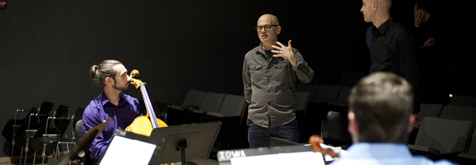 David Lang works with string players