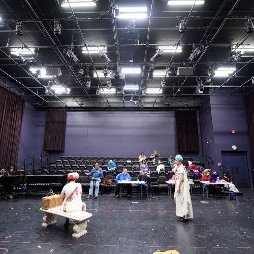 students rehearsing an opera in the Stark Opera Studio