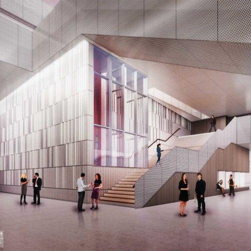 Interior rendering: level 2 concourse.