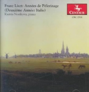 CD cover: Années de Pèlerinage (Years of Pilgrimage) Deuxième anneé: Italie (Second Year: Italy)