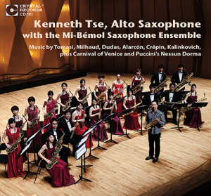 KENNETH TSE, Saxophone, with the MI-BÉMOL Saxophone Ensemble