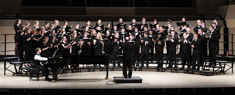 choir performs in the concert hall