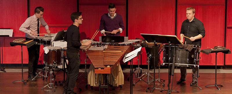 percussion ensemble performing