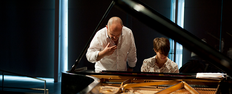 a piano lesson