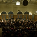 UI Symphony Band performs in the Iowa Memorial Union Main Lounge.