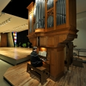 Organ Professor Greg Hand plays on one of two organs located in Riverside Recital Hall.